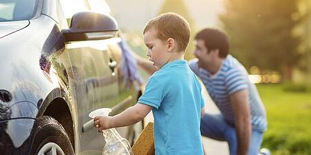 Washing cars with parent