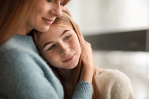 Teen daughter and mother