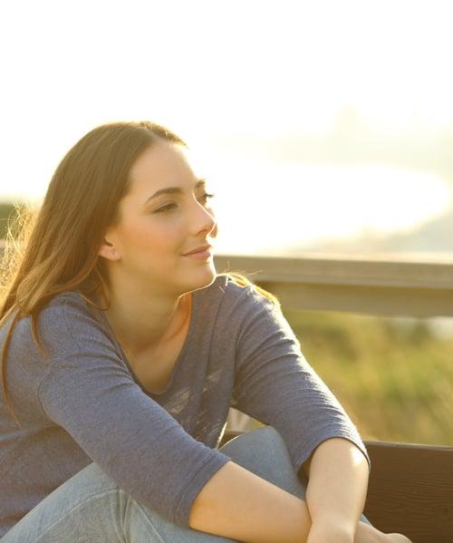 Mindful teenage girl regulating her emotions-1