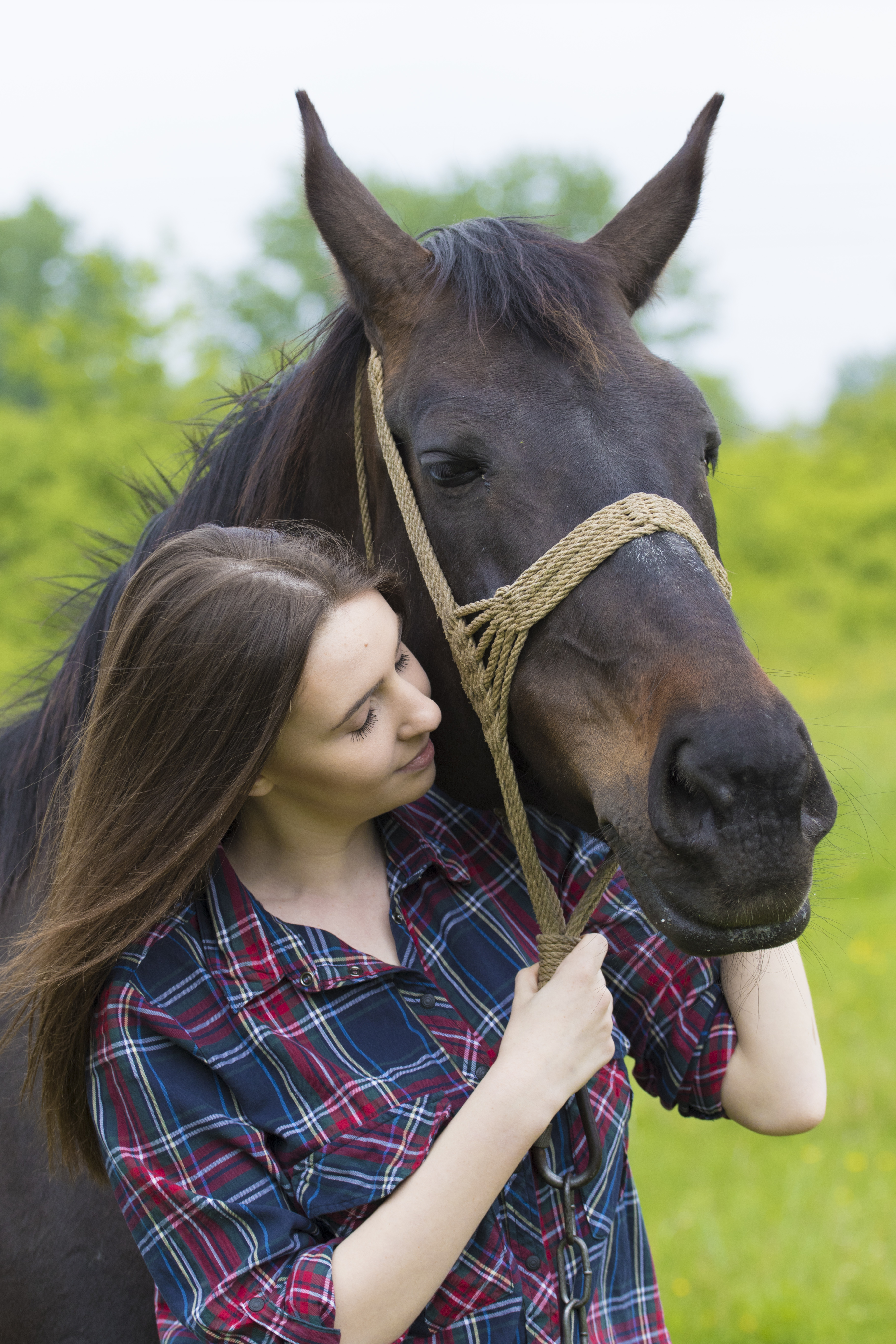 equine therapy helps teenage girl
